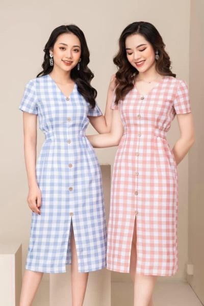 Đầm nữ - Váy nữ thiết kế kẻ siêu đẹp có đủ size [váy thiết kế]