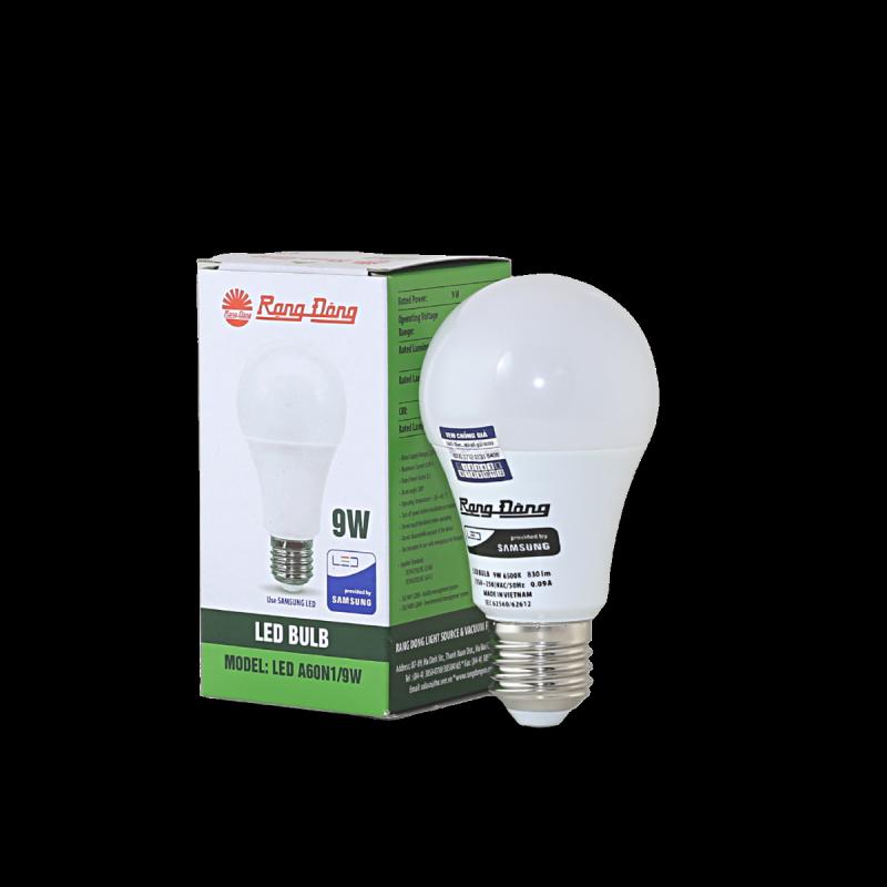 Bóng đèn LED Bulb tròn A60N1 - 9w chính hãng Rạng Đông chip LED SS chất lượng ánh sáng hoàn hảo bảo vệ thị lực
