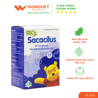 Bio Sacacilus - Men Tiêu Hoá Dạng Cốm, Lợi Khuẩn Dành Cho Bé (hộp 14 gói) thumbnail