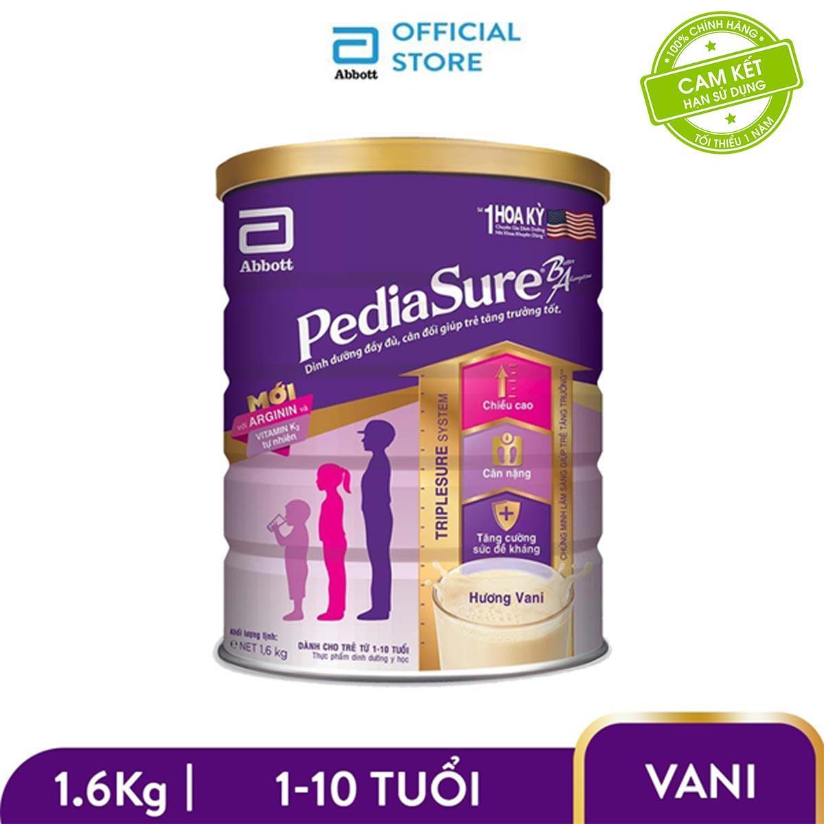 Offer Giảm Giá [Thu Thập Voucher để Giảm Thêm 40k] Lon Sữa Bột Pediasure B/A Hương Vani 1.6kg