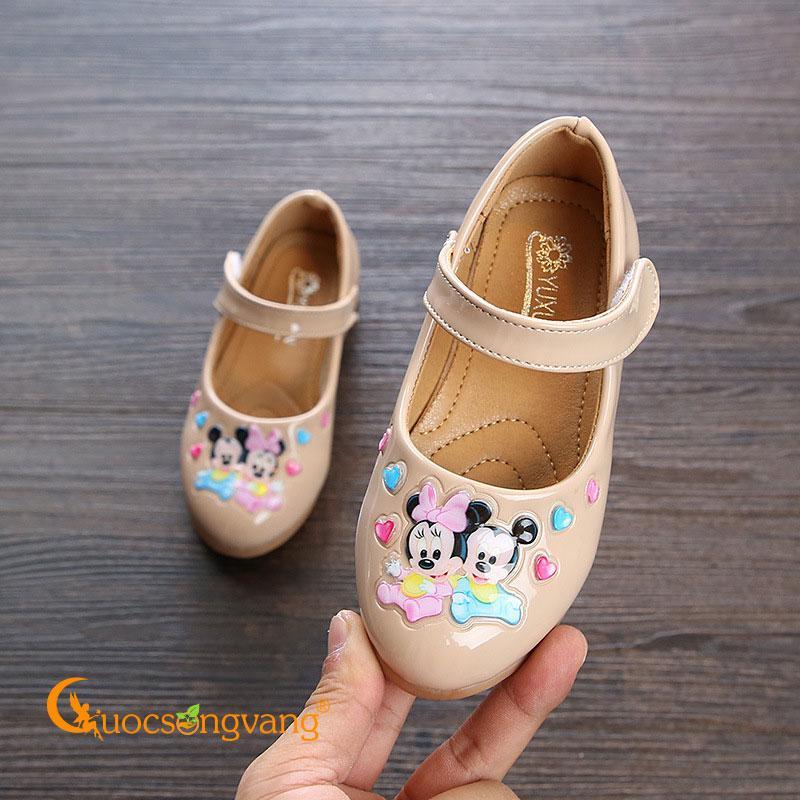 Giá bán Giày bé gái micky mouse giày học sinh quai cài GLG109