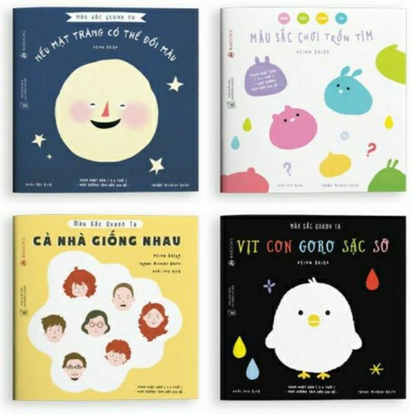 Mua Sách Ehon Waboks - Màu sắc quanh ta - Bộ 4 quyển cho bé 3 - 6 tuổi.