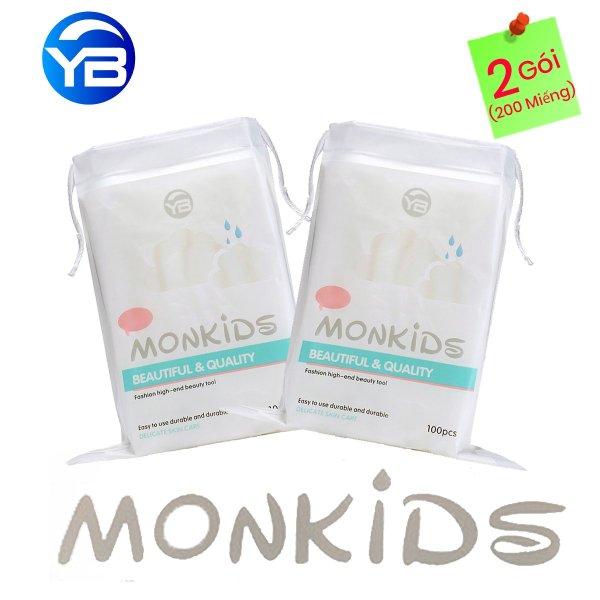 Combo 2 Gói Bông Tẩy Trang Monkids 100% cotton