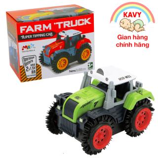 Xe ô tô đồ chơi cho bé xe tải nông trại chạy pin nhựa ABS an toàn, chi tiết sắc sảo (màu xanh bánh đỏ) thumbnail