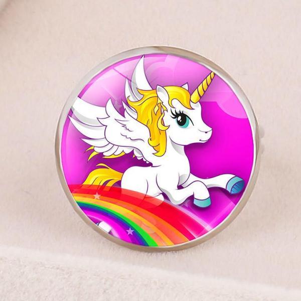 Giá bán Nhẫn Unicorn mặt tròn lung linh đủ họa tiết cho bé yêu BBShine – J031