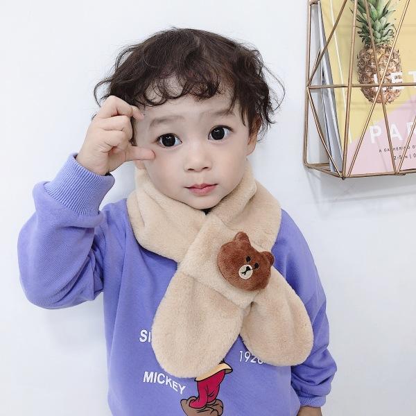 Giá bán Khăn quàng cổ, lông thỏ gắn họa tiết chú Gấu nhiều mẫu xinh xắn cho bé trai bé gái từ 1 đến 12 tuổi