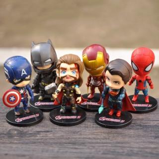 Set 6 mô hình nhân vật Avenger Marvel size 11cm - Mô hình siêu nhân - Biệt đội siêu anh hùng - Smart Baby thumbnail