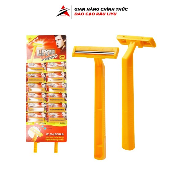 Dao cạo râu Liyu max 12 cây dể dàng sử dụng tiện lợi siêu hot