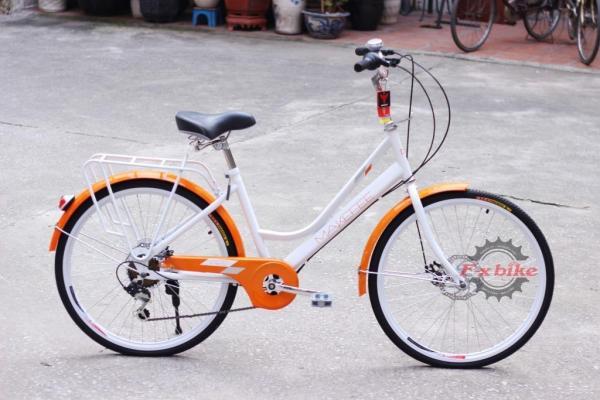 Mua Xe đạp nữ Makefee khung hợp kim thép carbon nhẹ, phanh cơ đĩa Bolids, líp 7 tầng, củ đề Shimano TY21 (Nhiều Màu)