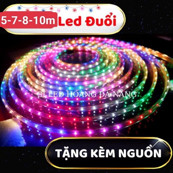 Bảng giá [4-5-7-8-10 mét] đèn led 7 màu-dây đèn led trang trí nhiều chế độ nháy+ TẶNG KÈM NGUỒN CẮM ĐIỆN LÀ SÁNG