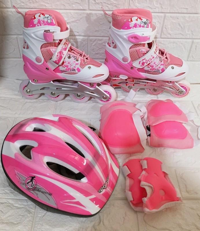 Phân phối [ Tặng kèm mũ bảo hiểm và bộ bảo vệ chân, tay ]-Giày trượt Patin  cao cấp có đèn 906 thể thao nhiều màu ĐNTsport