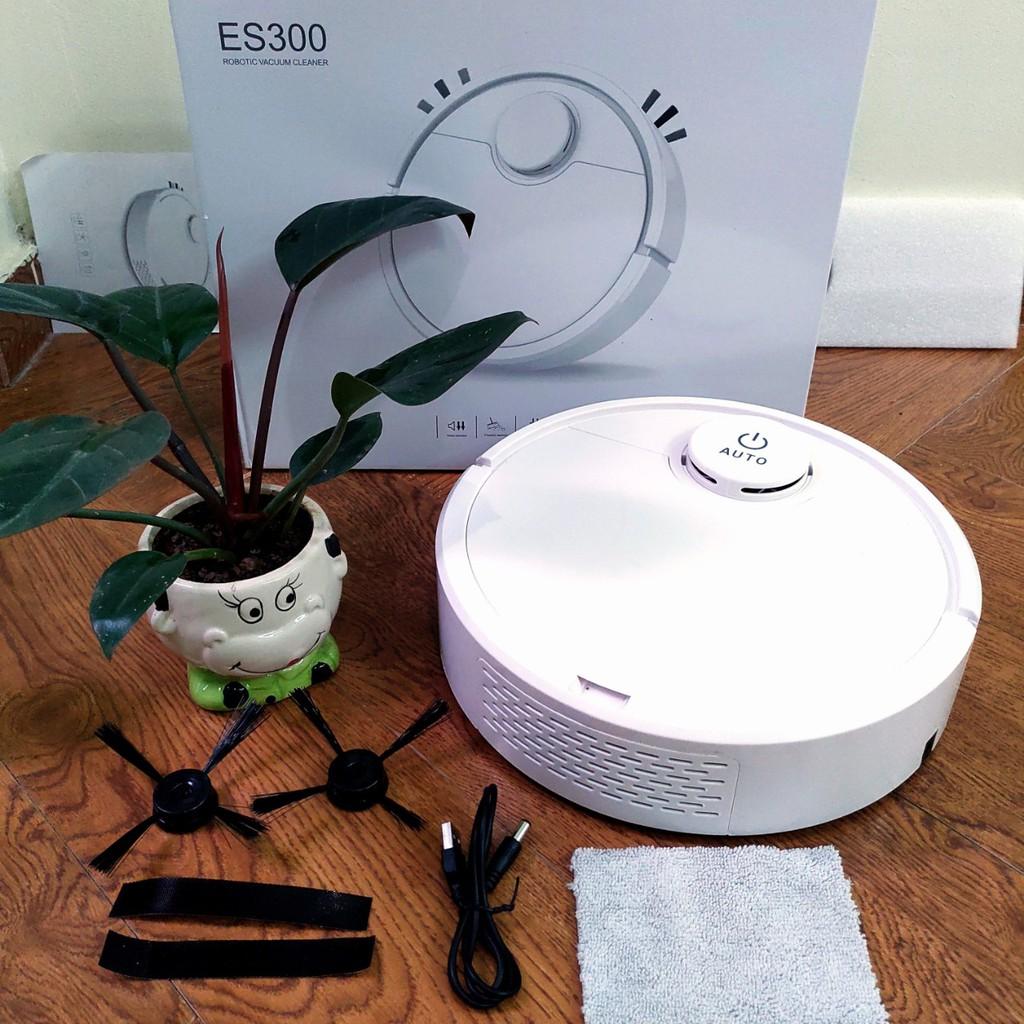 Robot hút bụi lau nhà thông minh ES300 Mẫu mới nhất 2020 Bảo hành 1 đổi 1 ( tem bảo hành )