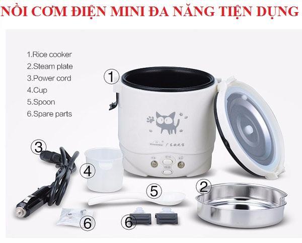 Noi Com Dien Mini, Nồi Cơm Điện Giá Rẻ, Nồi cơm điện 1 lít đa năng và Tiện Dụng, Hộp Đựng Cơm Văn Phòng, Camen Giữ Nhiệt