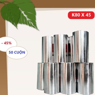 Thùng Giấy 50 Cuộn In Nhiệt Cho Máy In Nhiệt Khổ K80 Phi 45 (80x 45mm) thumbnail