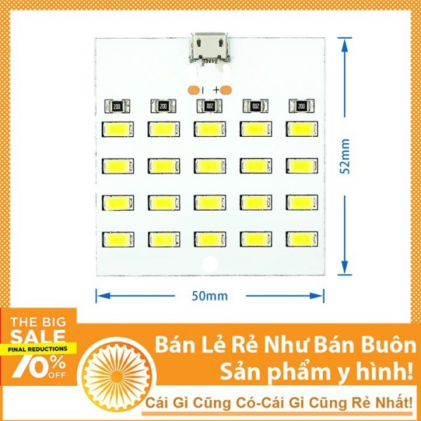 Bảng giá Đèn Led Siêu Sáng 20 LED 5V Micro USB Đèn Ngủ Tiết Kiệm Điện Phong Vũ