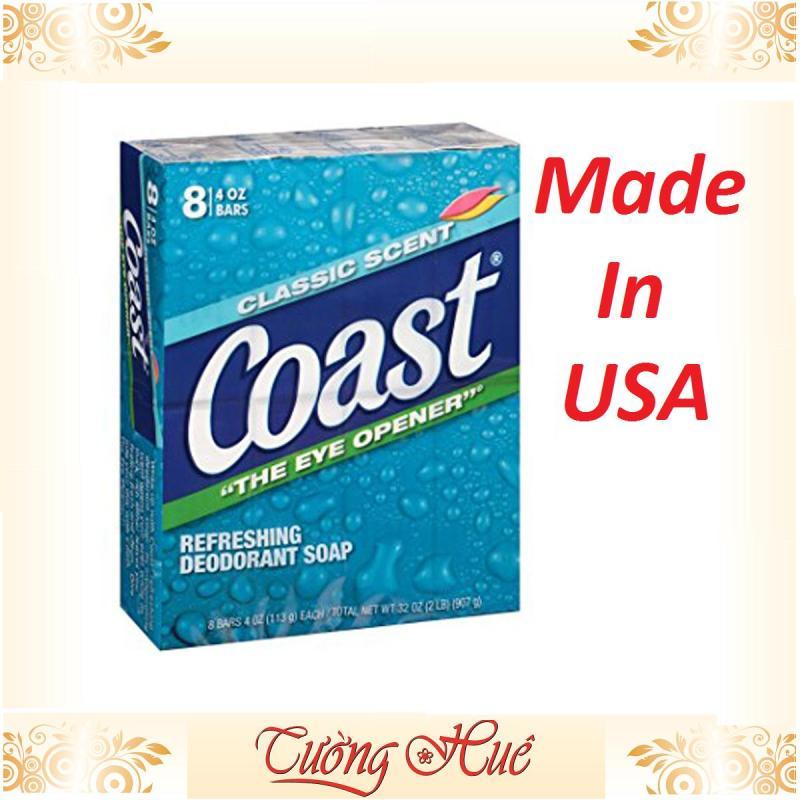 Lốc 8 bánh xà bông Coast 113g hương thơm nhẹ nhàng sạch da và giữ mùi tốt sau khi tắm