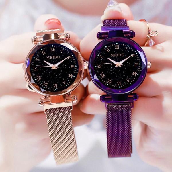 Nơi bán Đồng hồ thời trang nữ MEIBO dây lưới nam châm siêu đẹp