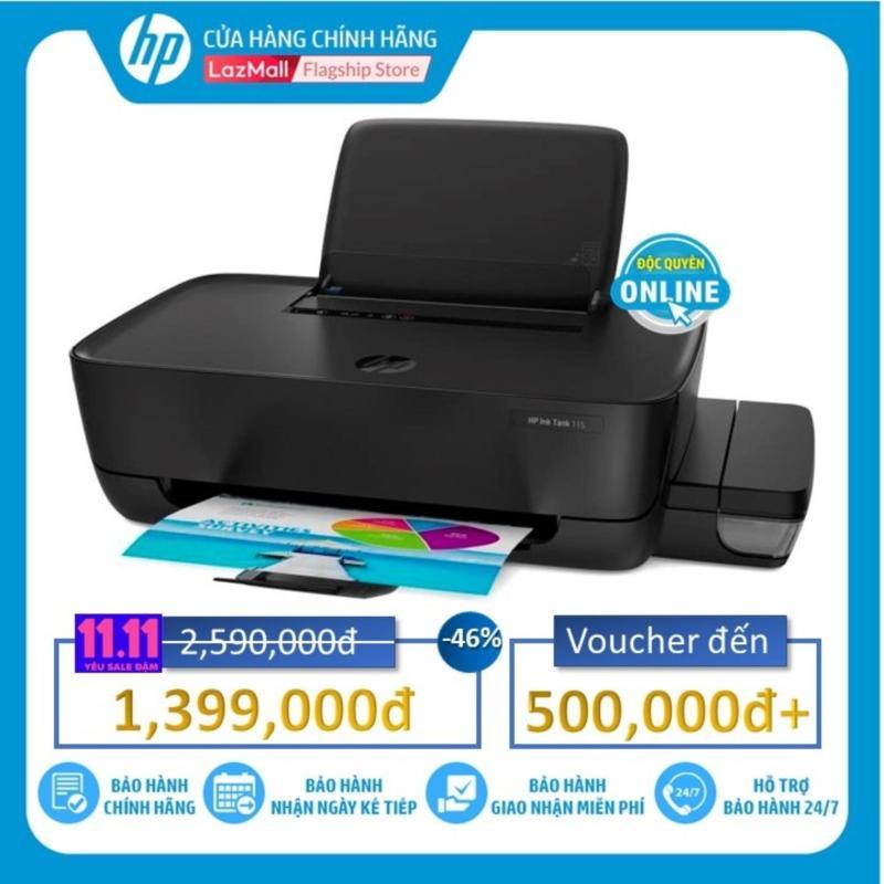 Máy in phun màu đơn năng HP Ink Tank 115 (2LB19A)  độ phân giải 4800 x 1200 dpi, khổ giấy inA4, B5, A6  - Hàng Chính Hãng