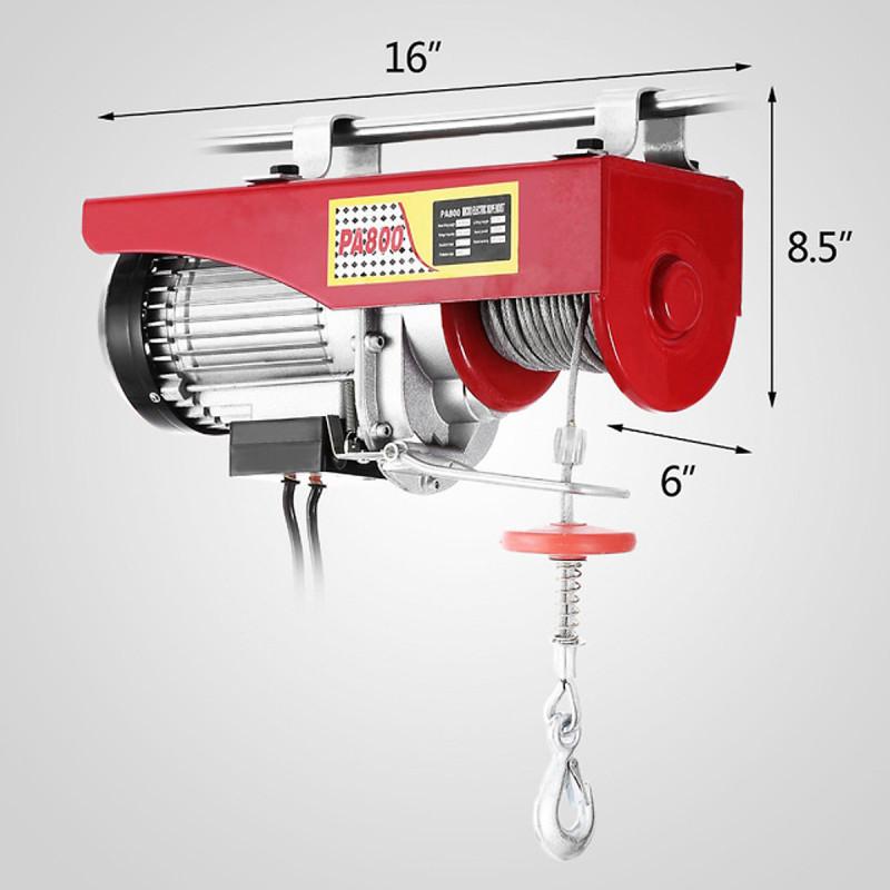 Tời Điện Treo Pa800 (400/800Kg) Màu Đỏ  Cáp 30m