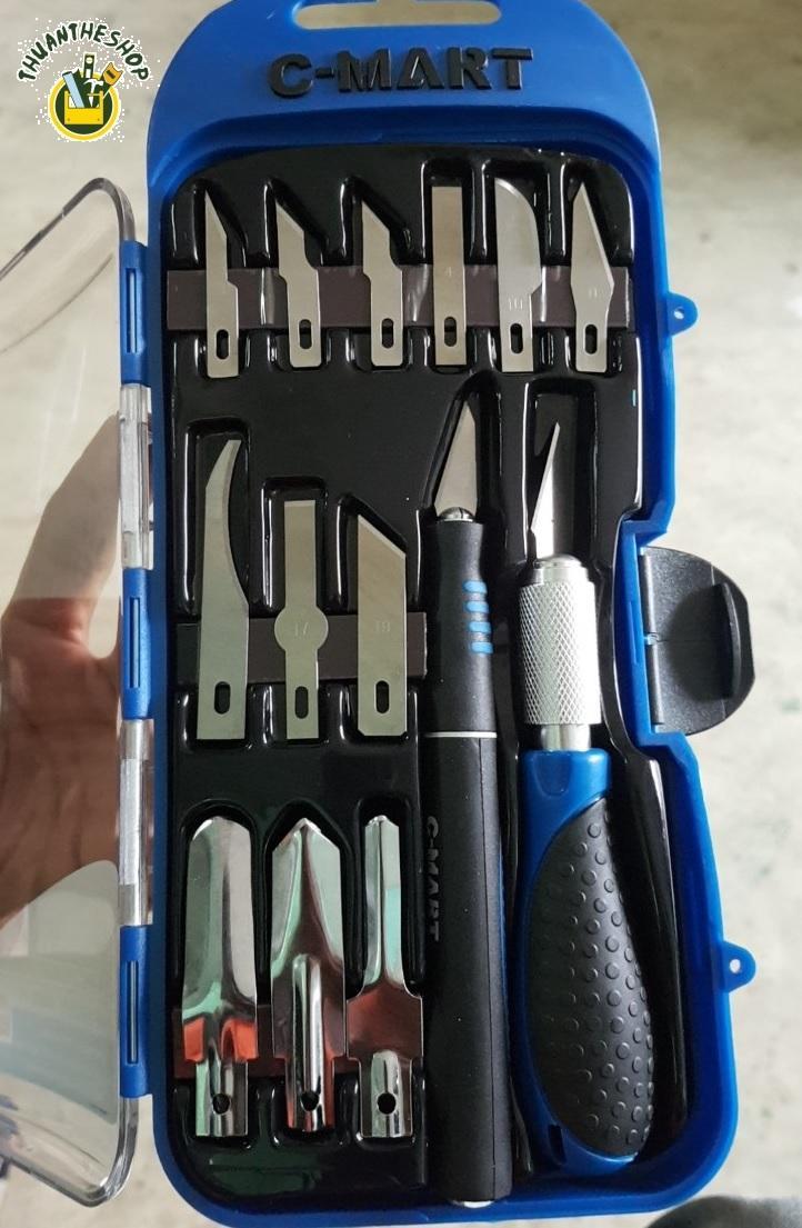 Bộ dao điêu khắc, chạm, trổ, tách, chiết cao cấp 14 chi tiết C-Mart A0301