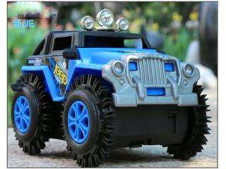 Xe Jeep đồ chơi cho bé, chạy pin chất liệu nhựa ABS an toàn cho bé, chi tiêt sắc sảo (màu xanh nước biển - chưa kèm pin) thumbnail