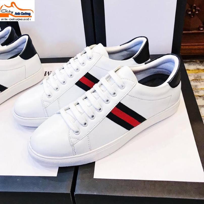 Giày thể thao nam màu trắng đẹp giá rẻ