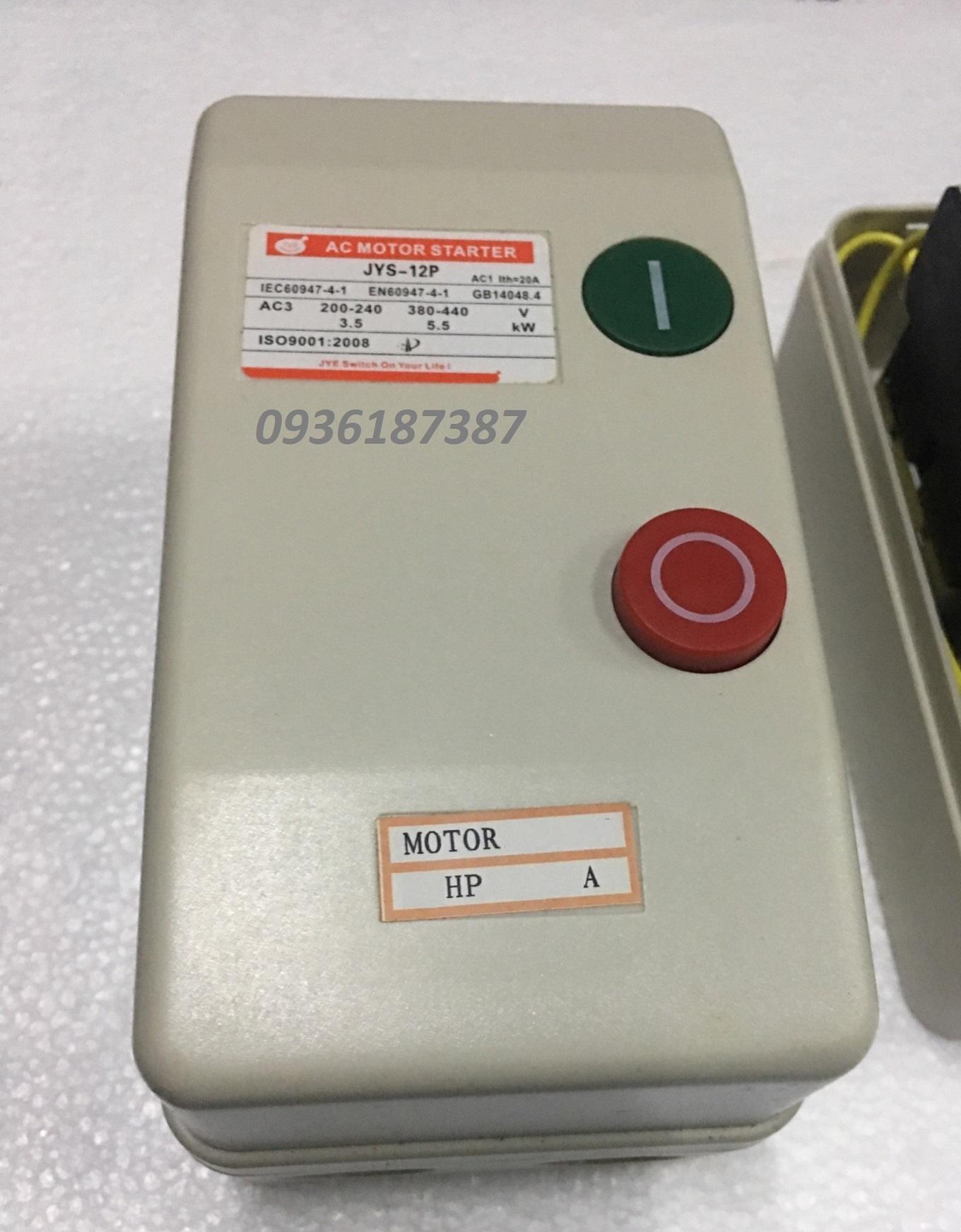 Khởi động từ hộp 11 A (9-13A) - coil 380V  dùng cho động cơ 5.5kw (7.5hp)