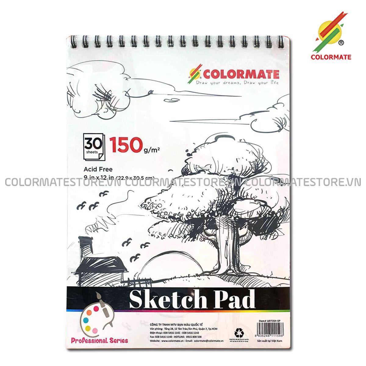 Tập Giấy Vẽ Sketch Pad A4 Định Lượng 150GMS 30 Tờ Với Giá Sốc