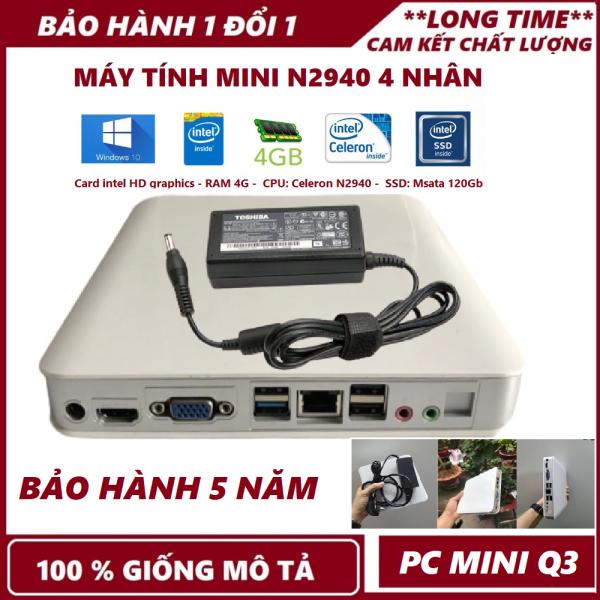 Bảng giá PC Mini Q3 Nhỏ Gọn- Mạnh Mẽ THẾ HỆ 4 N2940, N2930 RAM 4Gb SSD 120Gb - Bảo hành 12 tháng - [ ẢNH THẬT 100%] Phong Vũ