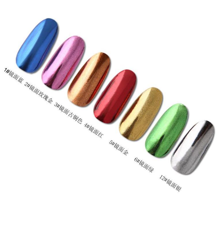 Bột màu giả kim hiệu ứng Gương trang trí móng tay (1 hủ) giá rẻ