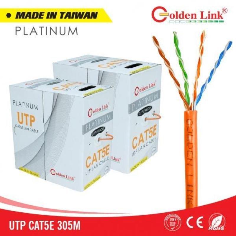 Bảng giá Thùng 305M cáp mạng LAN UTP CAT 5E Golden Link Platinum - Made in Taiwan Phong Vũ
