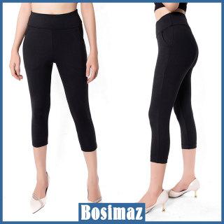 Quần Legging Nữ Bosimaz MS361 lửng túi trước màu đen cao cấp, thun co giãn 4 chiều, vải đẹp dày, thoáng mát không xù lông. thumbnail
