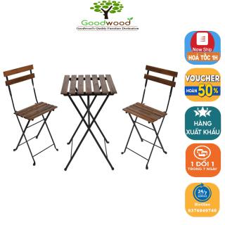 Bộ bàn ghế gỗ Tarno gấp gọn làm việc văn phòng đa năng - Bộ Ghế Dã Ngoại Xếp Gọn Tựa Lưng Ngoài Trời Du Lịch, Cắm Trại, Dã Ngoại, Câu Cá -Bàn gấp Tarno và ghế đẩu gấp ngoài trời Bàn ghế ngoài trời gỗ rắn ngoài trời IKEA Hdecor thumbnail