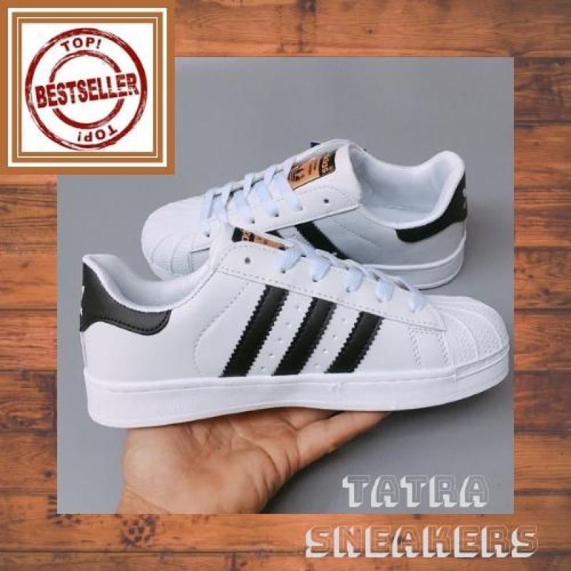 [Full hộp + Tặng móc khóa Sneakers] Giày Thể thao SuperStar Mũi Sò Tem Vàng - Nam Nữ