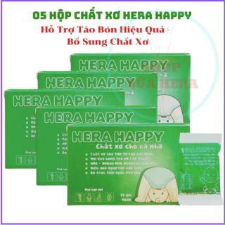 Chất Xơ HERA HAPPY CX03 - Chất xơ Hòa Tan - Hỗ Trợ Táo Bón - Bổ sung Chất xơ (05 Hộp 75 Gói) thumbnail