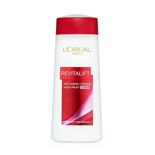 Nước hoa hồng săn chắc da và giảm nếp nhăn LOreal Paris Revitalift Aqua Milky 200ml, sản phẩm tốt, chất lượng cao, cam kết sản phẩm nhận được như hình và mô tả