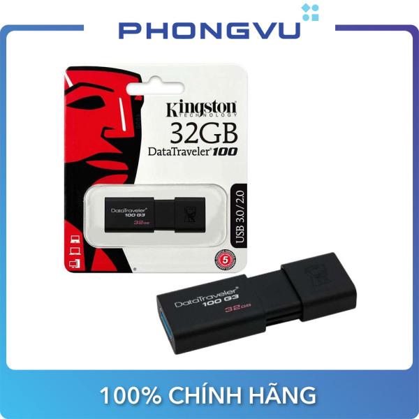 Bảng giá USB Kingston DT100G3 32GB/64GB/128GB - Bảo hành 5 năm Phong Vũ