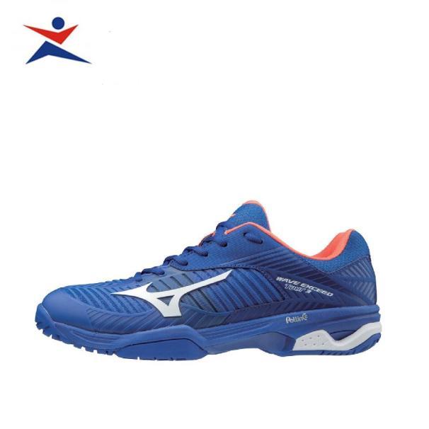Giày tennis thể thao nam Mizuno 61GA187027 màu xanh dương đẳng cấp thời thượng ,cực nhẹ, êm và khớp bàn chân dưới giúp thoải mái di chuyển dành cho nam giá rẻ