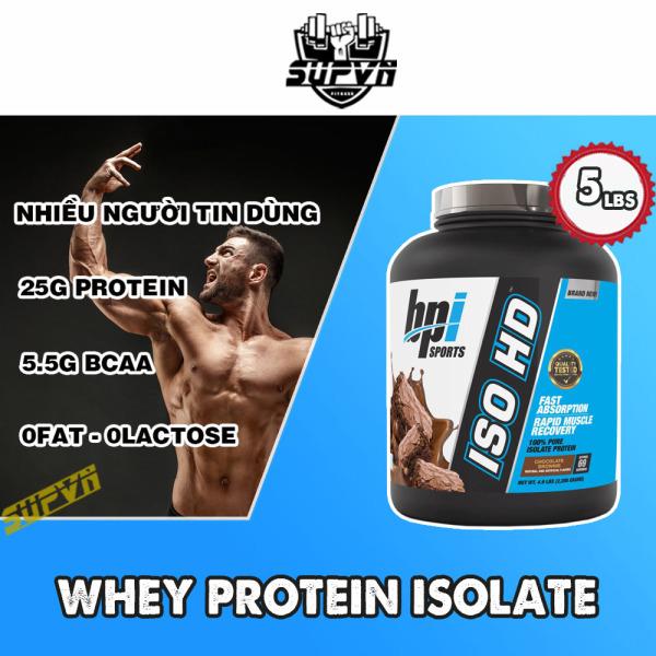 Whey Iso HD Bpi 5lbs Sữa tăng cơ bắp Whey Isolate Protein 100% -  ISOHD Bpi sport