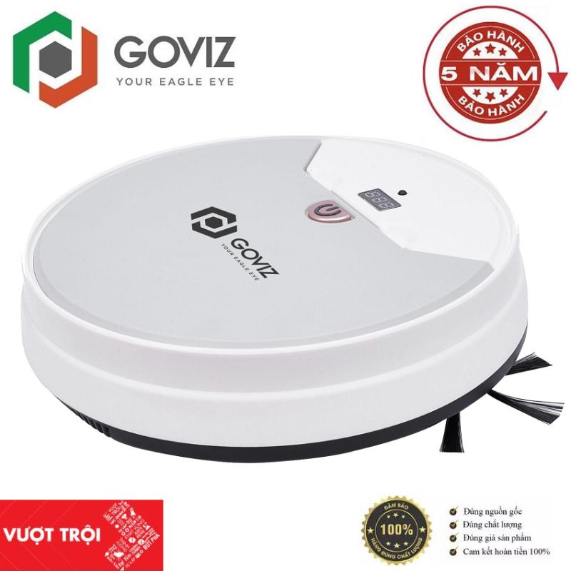 Robot hút bụi Goviz 4.0 - Điều khiên qua điều khiển thông minh - Thiết kế nhỏ gọn có thể sử dụng trong những khu vực nhỏ - Công nghệ phát hiện chướng ngại vật - Hàng chính hãng
