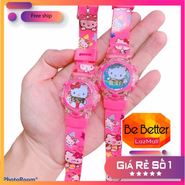 Nơi bán Đồng hồ trẻ em Kitty, Doremon có đèn và nhạc vui nhộn, chất liệu an toàn cho bé giá siêu rẻ HCM