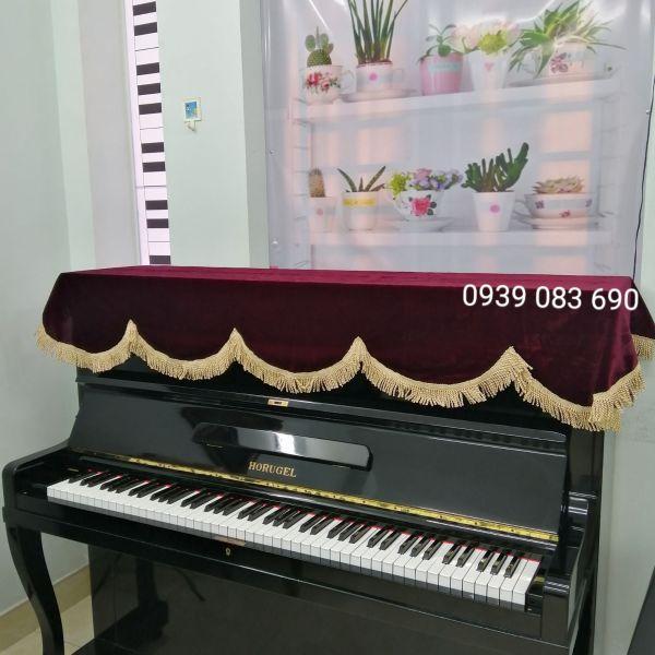 KHĂN NHUNG ĐỎ DÀY CAO CẤP, PHỦ ĐÀN PIANO CƠ, PIANO ĐIỆN