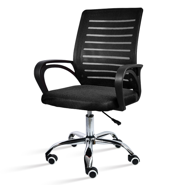 [HCM](ẢNH THẬT VÀ VIDEO).GYM - Ghế xoay văn phòng chân xoay 360 độ ghế lưới làm việc cao cấp Mẫu B200 Black giá rẻ