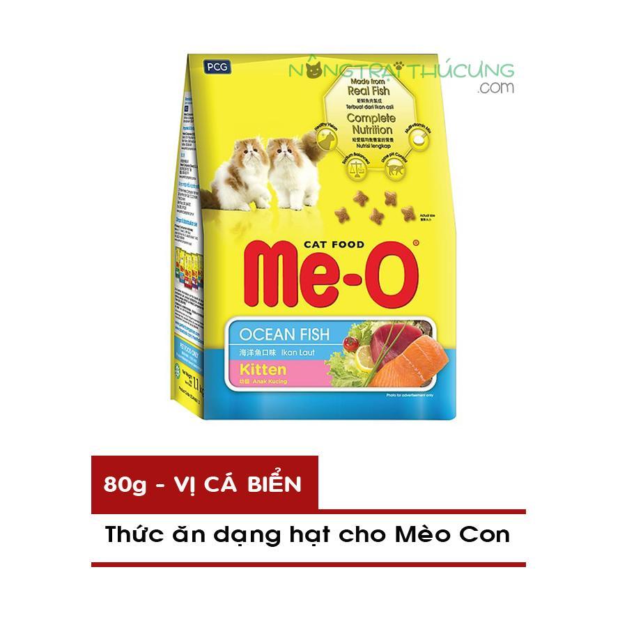 Mã Khuyến Mãi Thức ăn Hạt Cho Mèo Con ME-O Gói Nhỏ 80g - Vị Cá Biển - [Nông Trại Thú Cưng]