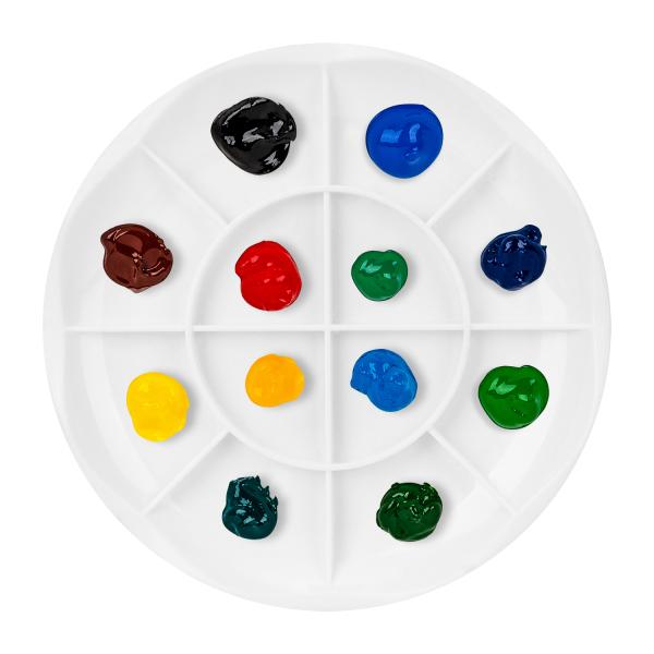 Khay pha màu Deli - 12 ngăn - 1 chiếc - 68305