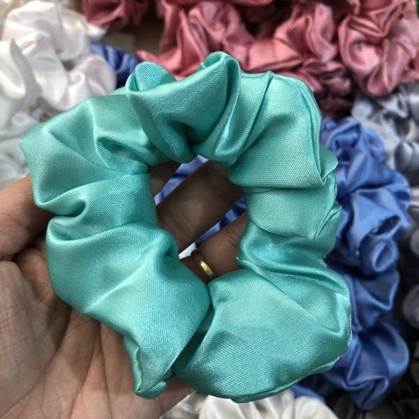 Cột (buộc) tóc scrunchies vải bóng thời trang