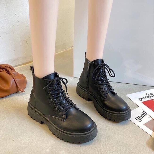 Giày nữ boost nữ phong cách giới trẻ, năng đông cá tính, Chất liệu da mềm , độn đế 3cm đi cực êm chân, Dễ phôi đồ giá rẻ