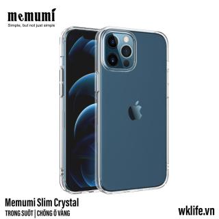 Ốp iPhone Trong Suốt Chống Ố Vàng Hãng Memumi Cho 11 12 13 Pro Max thumbnail