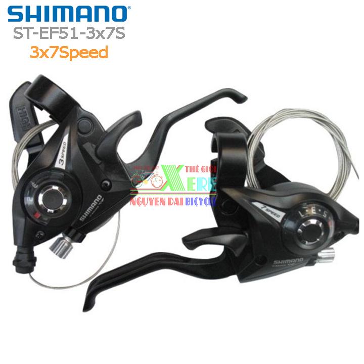 Mua Bộ tay đề bấm xả Shimano ST-EF51-3x7Speed