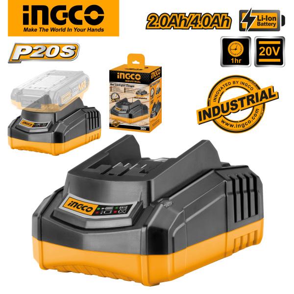 INGCO Tools Bộ sạc nhanh thông minh 20V FCLI2001 cho dòng máy P20S